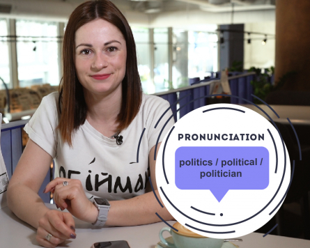 By the way with Alina Demiduk. Pronunciation: politics/political/politician.