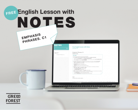 Free English Lesson with Notes. Emphasis Phrases. C1